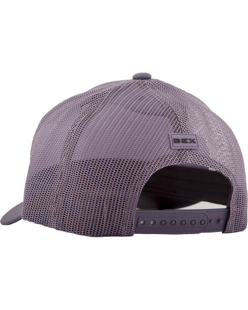 BEX Men's Metallic Icon Snap-Back Ball Cap, Grey, hi-res