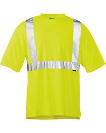 Wolverine Men's Yellow Caution Short Sleeve Tee , , hi-res