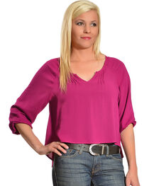 Ariat Women's Cora Cropped Blouse, , hi-res