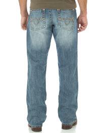 Wrangler Rock 47 Men's Relaxed Boot Cut Light Wash Jeans, , hi-res