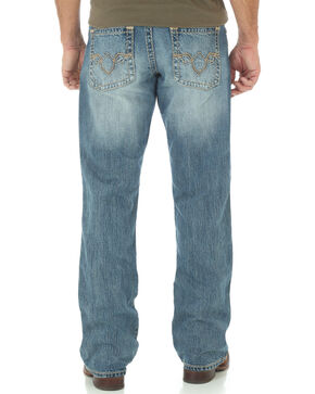 Wrangler Rock 47 Men's Relaxed Boot Cut Light Wash Jeans, Indigo, hi-res