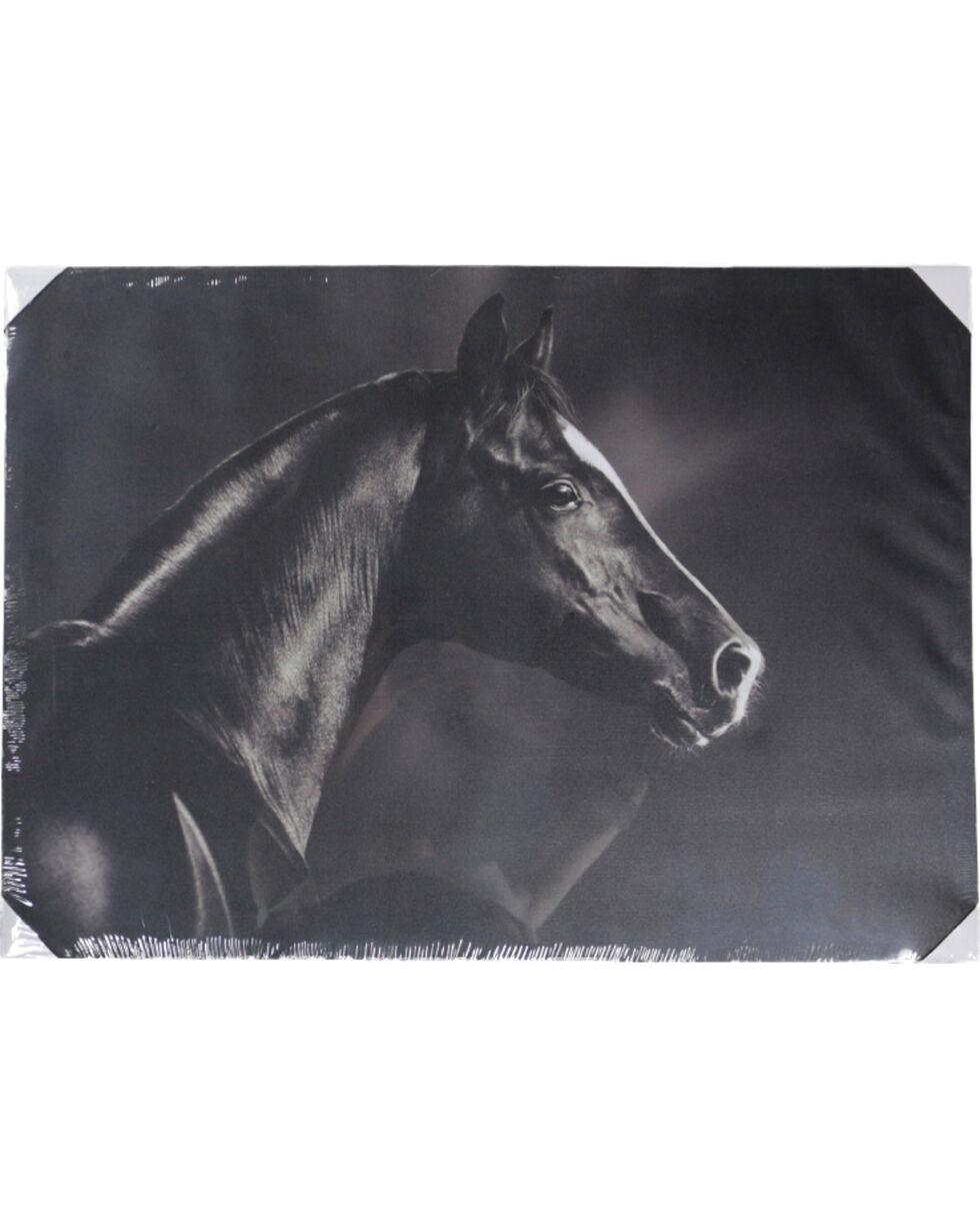 Gift Craft Horse Photo Canvas Wall Decor, No Color, hi-res