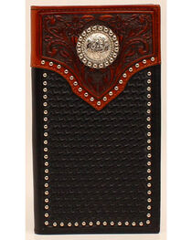 Ariat Basketweave Tab Concho Rodeo Wallet, , hi-res
