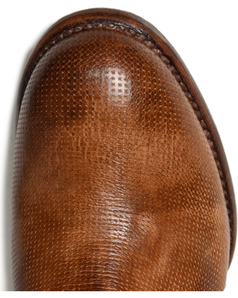 Bed Stu Blair Leather Lace Tie Back Booties - Round Toe, Tan, hi-res