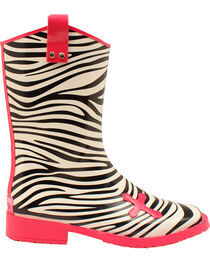 Blazin Roxx Jane Zebra Cross Rain Boots - Square Toe , , hi-res