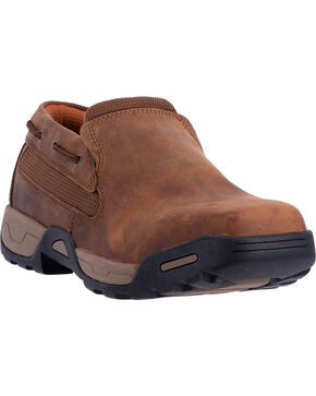 Dan Post Men's Columbus Work Shoes, Brown, hi-res