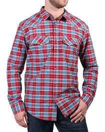 Cody James® Men's Dodge City Plaid Long Sleeve Shirt, , hi-res