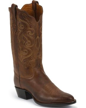 Tony Lama Men's Pointed Toe Western Boots, Tan, hi-res