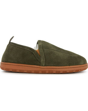 Lamo Men's Romeo Slippers , Dark Green, hi-res