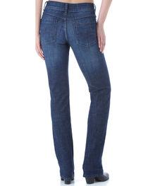 Wrangler Women's Dark Wash Stretch Denim Jeans - Straight Leg , , hi-res