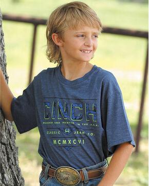 Cinch Boys' Short Sleeve Graphic Tee, Navy, hi-res