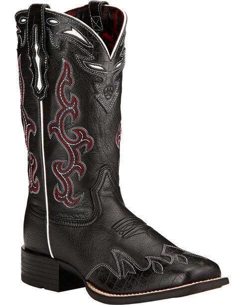 Ariat Women's Sidekick Western Boots, Black, hi-res