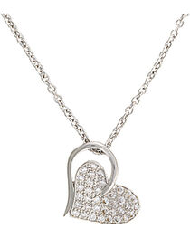 Montana Silversmiths Heart Print Necklace, , hi-res