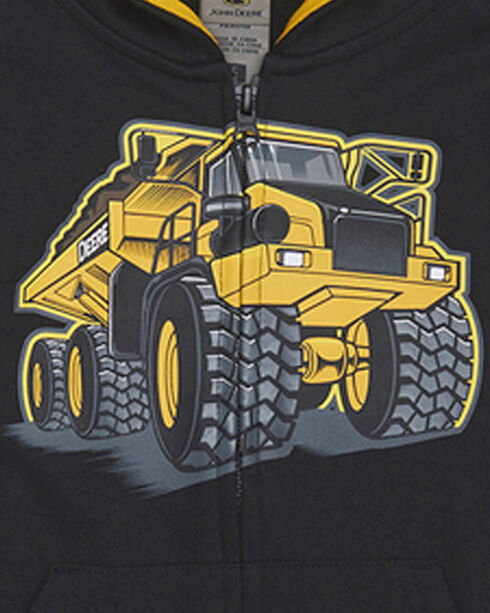 John Deere Boys' Black Dump Truck Fleece Hoodie , Black, hi-res