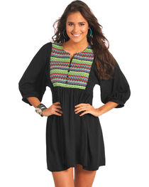 Rock & Roll Cowgirl Women's Embroidered Yoke Dress , , hi-res