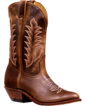 Boulet Women's Challenger Virginia Mesquite Cowgirl Boots - Round Toe, Brown, hi-res