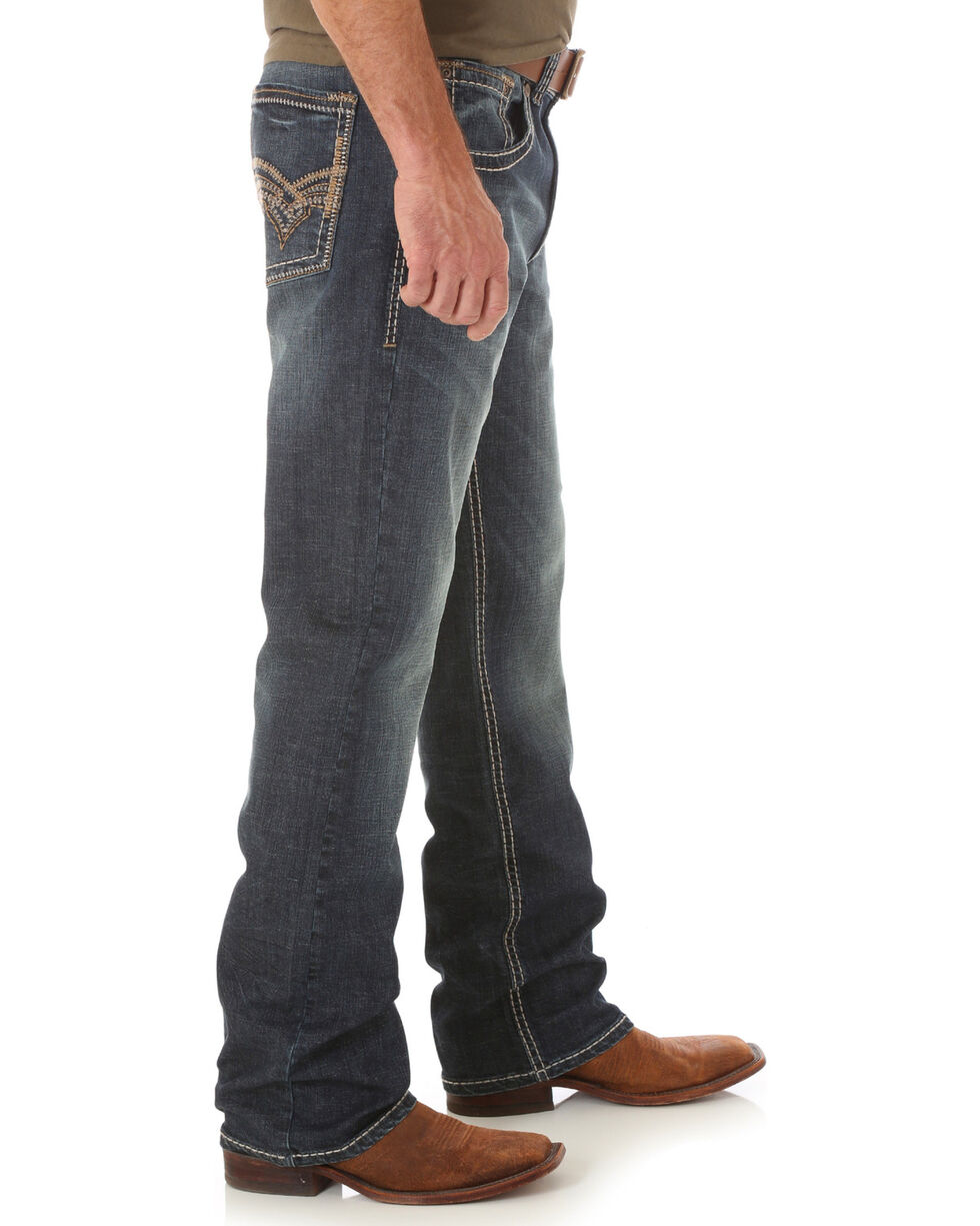 Wrangler Men's Rhythm Slim Boot Jeans - Big and Tall, Indigo, hi-res