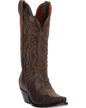 Dan Post Women's Carisma Western Boots, Brown, hi-res