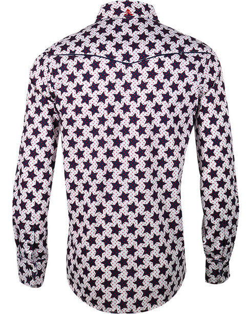 Rock Roll n Soul Men's Star Man Long Sleeve Shirt, Navy, hi-res