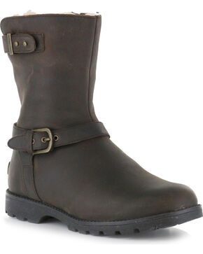 UGG Women's Dark Brown Grandle Casual Boots - Round Toe , Dark Brown, hi-res
