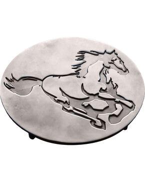 Moss Brothers Running Horse Aluminum Trivet , Silver, hi-res