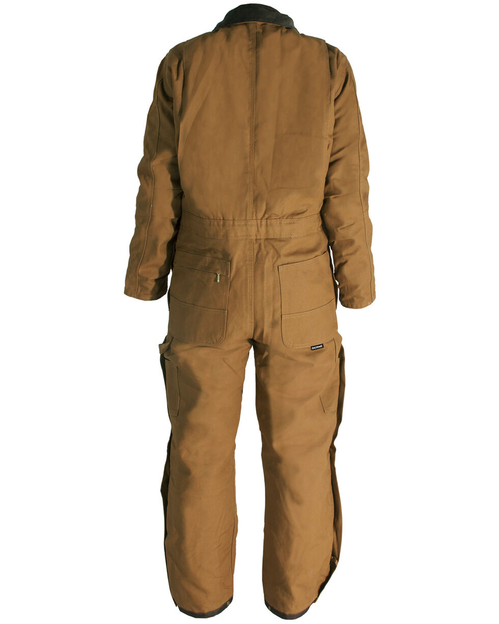 Berne Men's Duck Deluxe Insulated Coveralls - Tall 2XT, Brown, hi-res