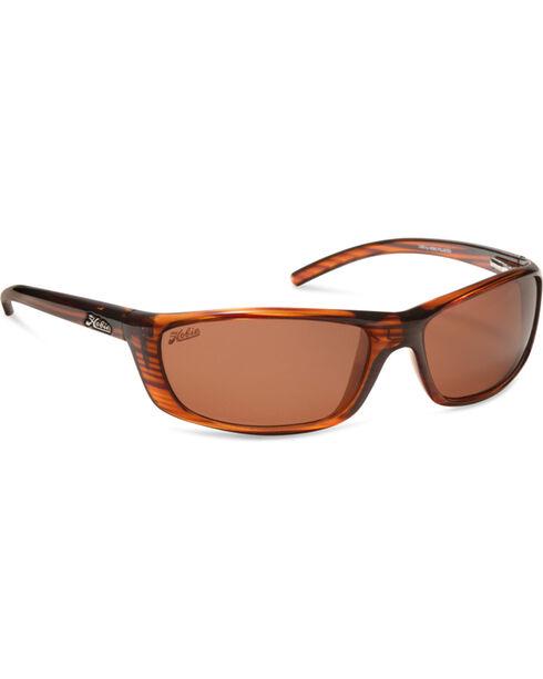 Hobie Men's Shiny Brown Wood Grain Polarized Cabo Sunglasses , Brown, hi-res