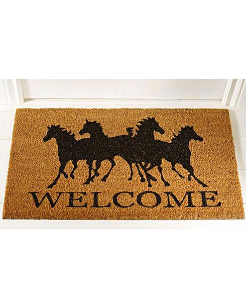 Gift Craft Horse Welcome Door Mat, No Color, hi-res