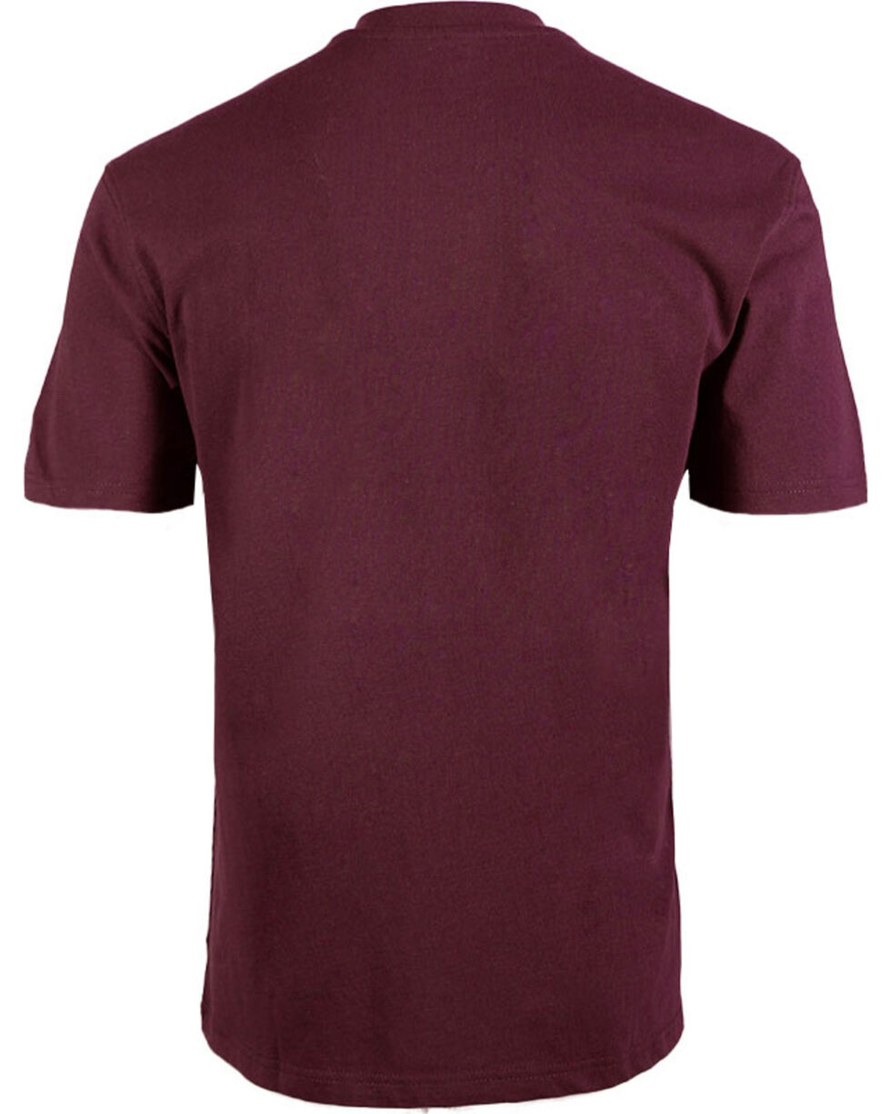 American Worker Men's Solid Short Sleeve T-Shirt - Big & Tall, Wine, hi-res