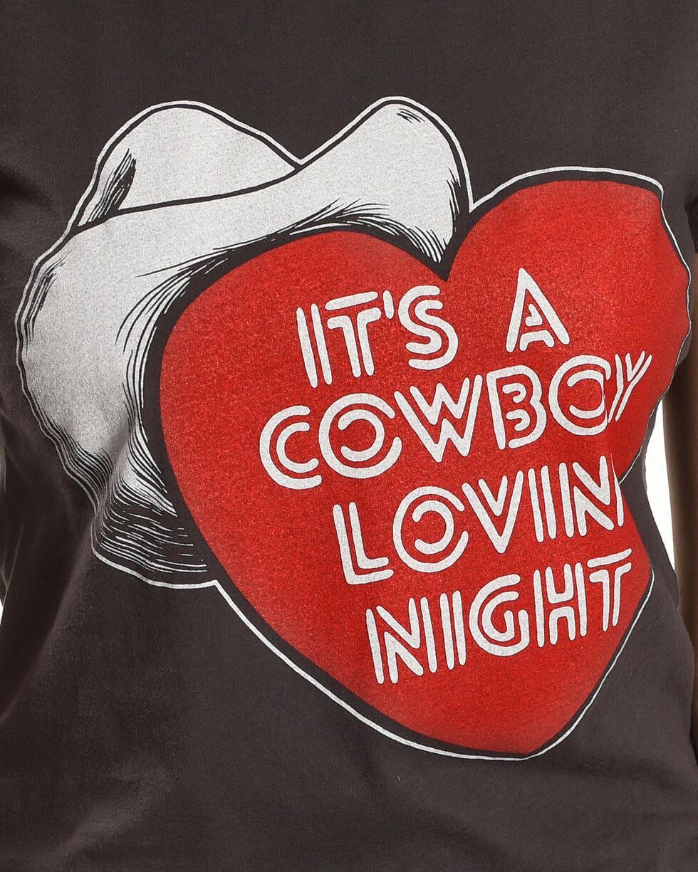 "Bandit Women's ""It's A Cowboy Lovin' Night"" Tee , Black, hi-res"