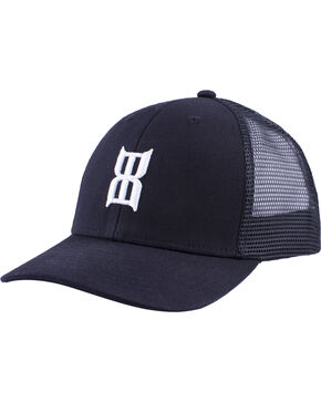 BEX Youth's Black Steel Baseball Cap , Black, hi-res