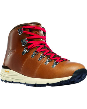 Danner Men's Saddle Tan Mountain 600 Hiking Boots - Round Toe, Tan, hi-res