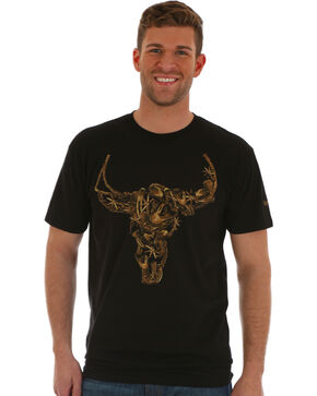 Wrangler Men's Black Steer Graphic Tee , Black, hi-res
