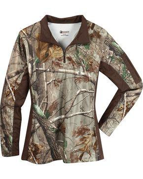 Rocky Women's SilentHunter Zip Shirt, Camouflage, hi-res