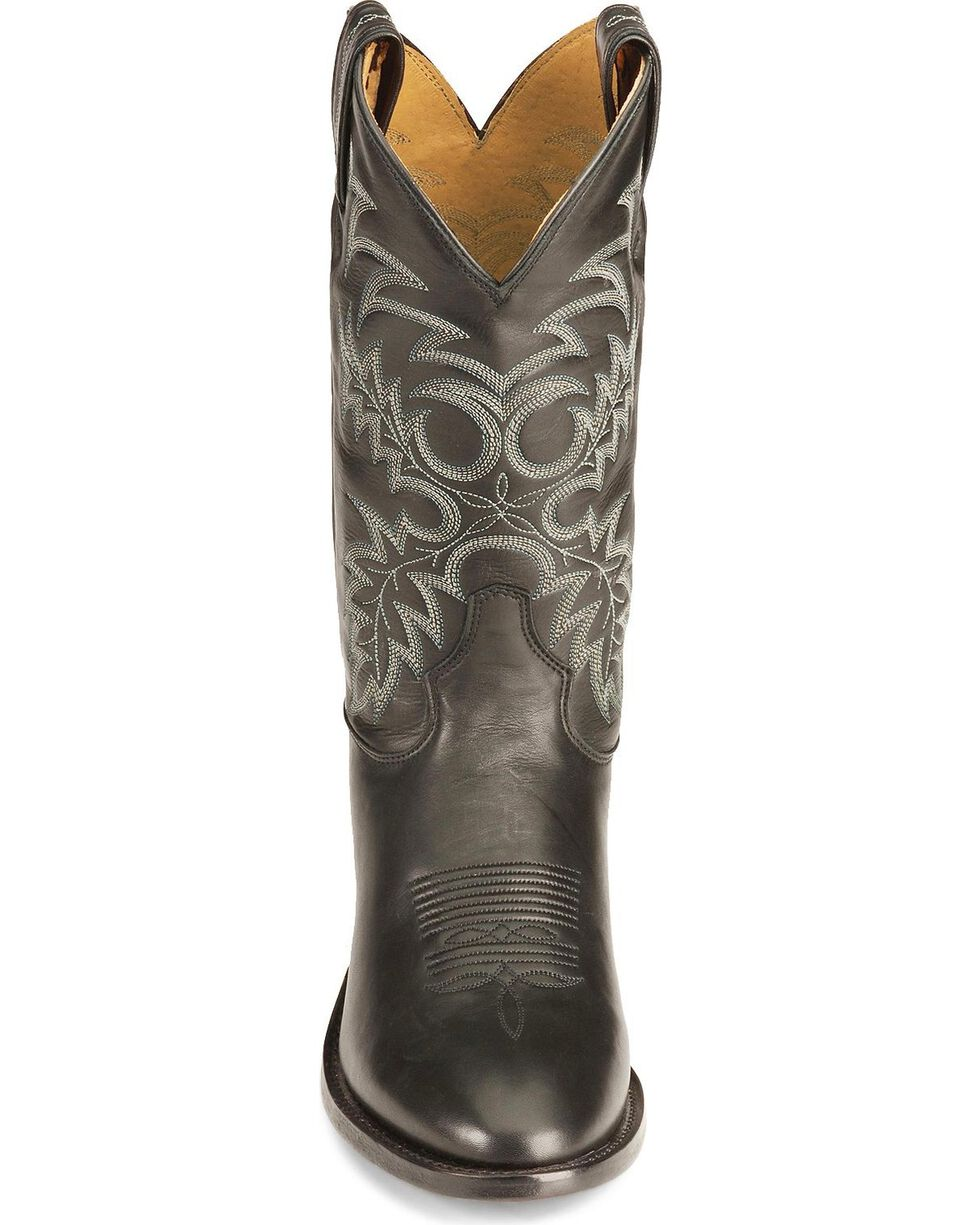 Tony Lama Black Stallion Americana Cowboy Boots - Medium Toe, Black, hi-res