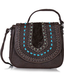 Shyanne® Women's Embellished Saddle Crossbody Bag, , hi-res