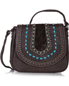Shyanne® Women's Embellished Saddle Crossbody Bag, Mauve, hi-res