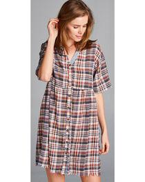 Hyku Women's Plaid Button Up Dress, , hi-res