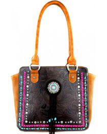 Montana West Concho Collection Handbag, , hi-res