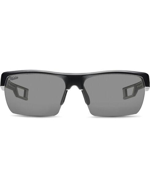 Hobie Men's Grey and Satin Black Manta Polarized Sunglasses , Black, hi-res