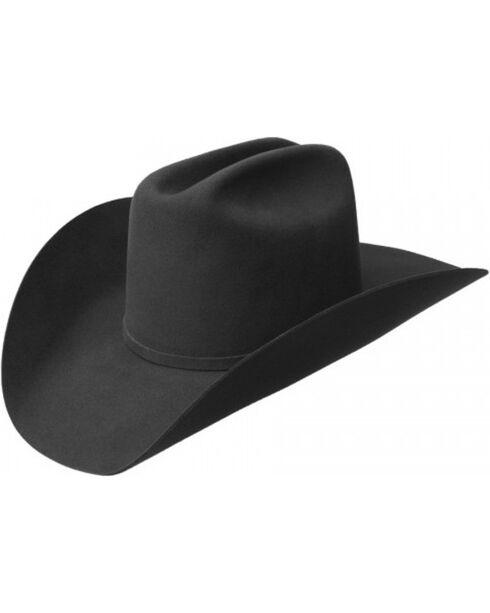 Bailey Men's Wheeler 3X Wool Felt Cowboy Hat, Black, hi-res
