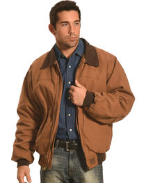 Forge Workwear Men's Brown Canvas Work Jacket , , hi-res