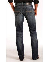 Rock & Roll Cowboy Indigo Men's Vintage Wash Revolver Jeans - Straight Leg , , hi-res