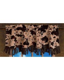 HiEnd Accents Caldwell Cow & Fringe Scalloped Valance, , hi-res