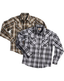 Ely Cattleman Boys' Lurex Plaid Assorted Long Sleeve Snap Shirt, Multi, hi-res