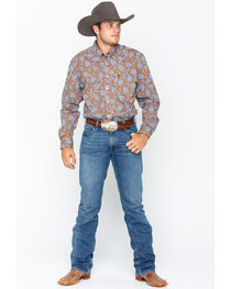 Cinch Men's Paisley Print Long Sleeve Western Shirt , , hi-res