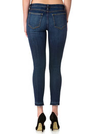 Miss Me Women's Indigo Madethe Cut Mid-Rise Jeans - Ankle Skinny , , hi-res
