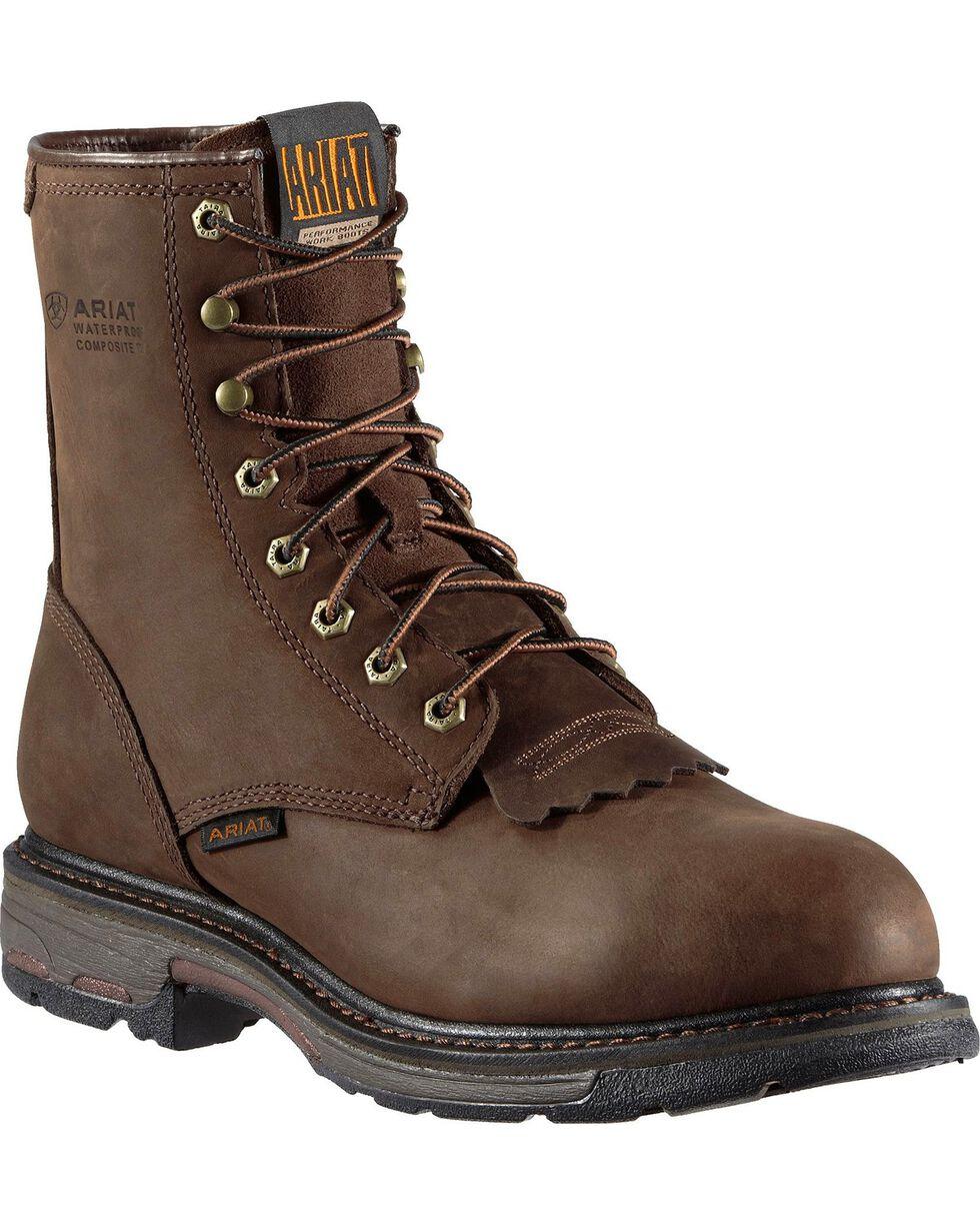 "Ariat Men's Workhog 8"" Composite Toe Work Boots, Distressed, hi-res"