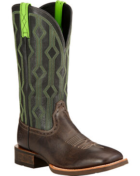 Ariat Men's Live Wire Western Boots, Chocolate, hi-res