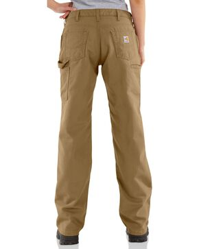 Carhartt Women's Flame-Resistant Relaxed Fit Work Pants, Khaki, hi-res